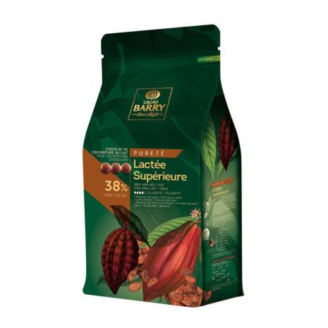 Cacao Barry Pistoles Milk Chocolate Lactee Superior 38%