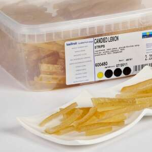 Amifruit Lemon Peel Candied Strips