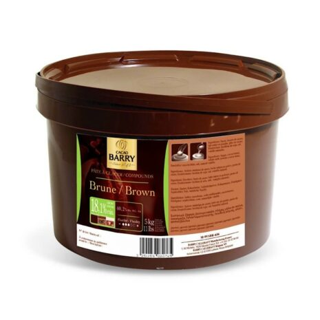 Cacao Barry Dark Chocolate Coating Pate A Glacer Brune