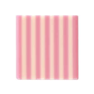 """Dobla Square Domino Pink/Wht 1.4"""" × 1.4"""""""