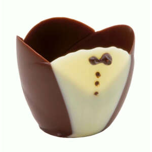 "Mona Lisa Cup Tulip Tuxedo 2"" × 1.7"""