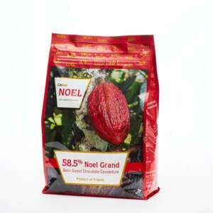 Cacao Noel Buttons Dark Grand 58% Bulk