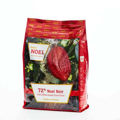 Cacao Noel Buttons Noir Dark 72%
