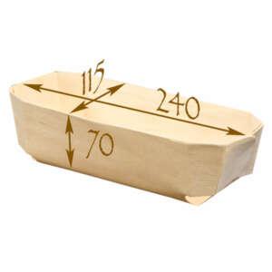 "Panibois Archiduc 9.5"" Wood Baskets"