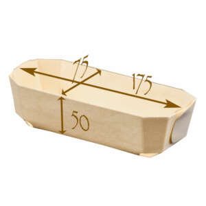 "Panibois Baronnet 6.9"" Wood Baskets"