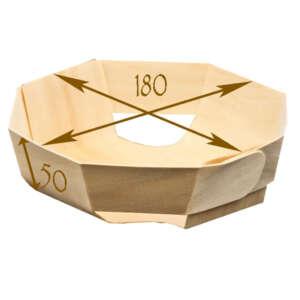 "Panibois Octo180 7.1"" Wood Baskets"