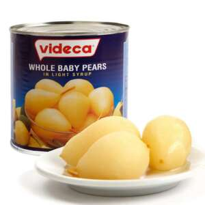 Videca Baby Pears Whole in Syrup