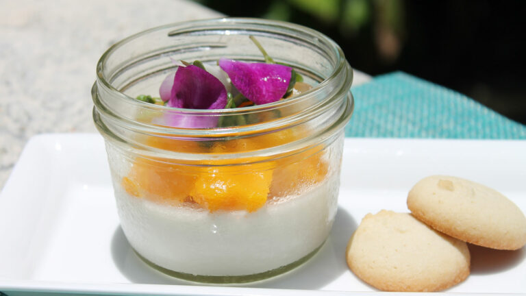 Coconut Panna Cotta with Key Lime Gelee